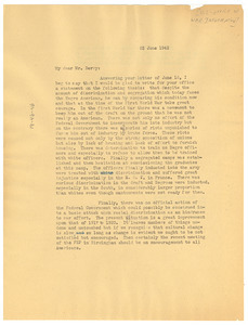 Letter from W. E. B. Du Bois to United States Office of War Information