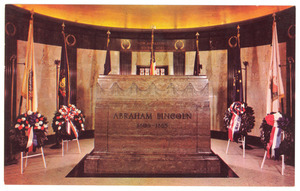 Postcard of Lincoln cenotaph