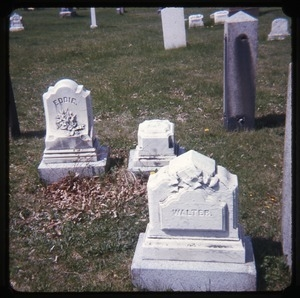 Amherst (Mass.) gravestone: Eddie and Walter