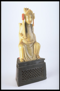 Carved Chinese god