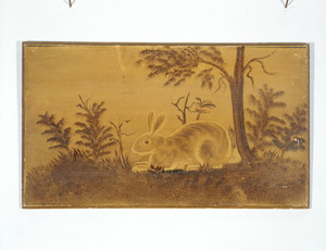 Overmantel-Rabbit and Landscape