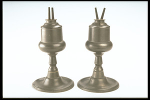 Pair of Camphene Lamps