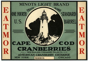 Cape Cod Cranberries : Minots Light Brand