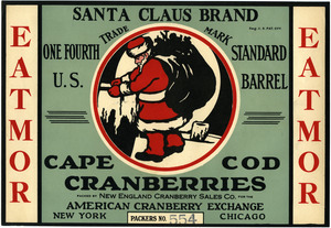 Cape Cod Cranberries : Santa Claus Brand
