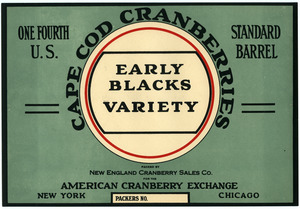 Cape Cod Cranberries : Early Blacks Variety