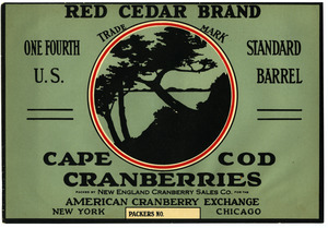 Cape Cod Cranberries : Red Cedar Brand