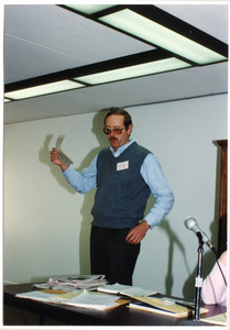 Low-input Sustainable Agriculture (LISA) seminar: unidentified man speaking at the seminar