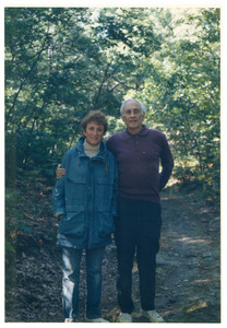 Sidney Lipshires and Ruth Scheer on a hike