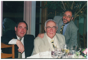 Sidney Lipshires (center) at his eightieth birthday party