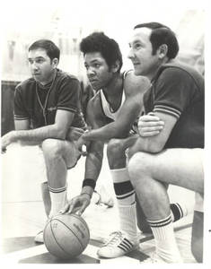 Captain Steve Waterman with Head Coach Ed Bilik and Assistant Coach Ray Gilbert, 1970-1971