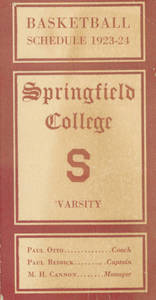 1923-1924 Springfield College Men's Basketball Schedule