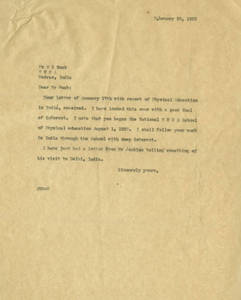 Letter to Harry Buck (February 20, 1922)