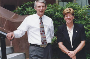 Cathie Schweitzer with Dr. Flynn (June 2000)