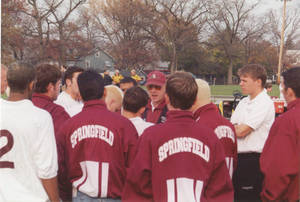 Coach Haley During a Team Huddle, 1999