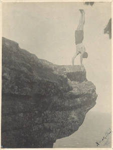 Price in a Handstand on a Cliff (1923)