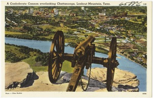 A confederate cannon overlooking, Lookout Mountain, Tenn.