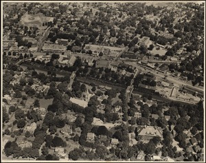 Aerial view, West Newton. Newton, MA