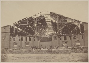 Boston Coliseum, showing effect of the gale of Sept. 8, 1869