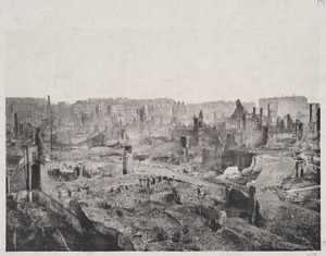 Part of the view of a panorama of Fire of 1872