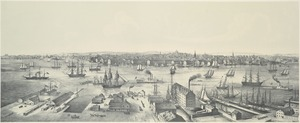 View of Boston in 1848 from East Boston