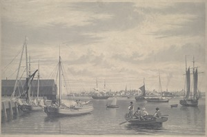 Boston, from the shiphouse, west end of Navy Yard, 1833