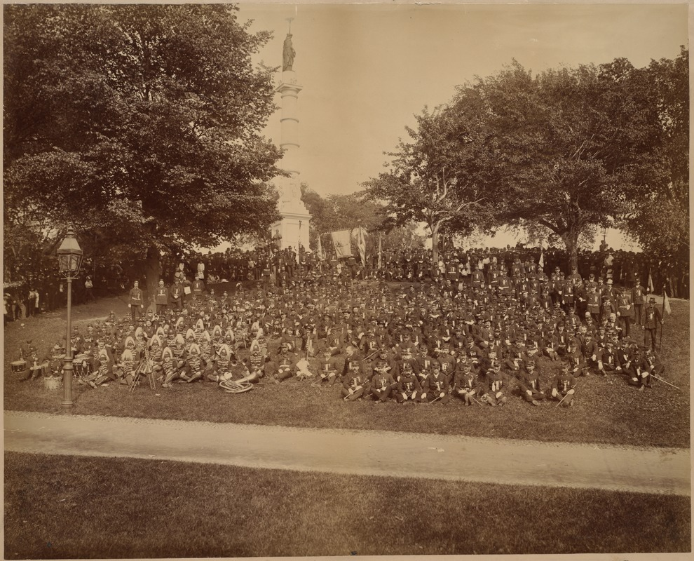 John A. Andrew Post 15, Dept. of Mass., and Geo. G. Meade Post 38, Dept. of N. Y., G. A. R. Memorial Day, 1886