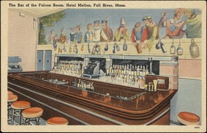 The bar of the Falcon Room, Hotel Mellen, Fall River, Mass.