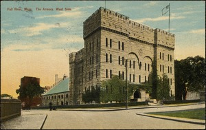 Fall River, Mass. The Armory, west side.