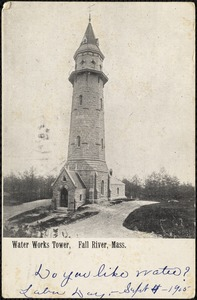 Water works tower, Fall River, Mass.