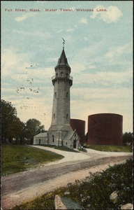 Fall River, Mass. Water tower, Watuppa Lake