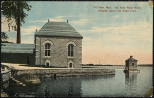 Fall River, Mass. Fall River Water Works. Pumping station and water front.