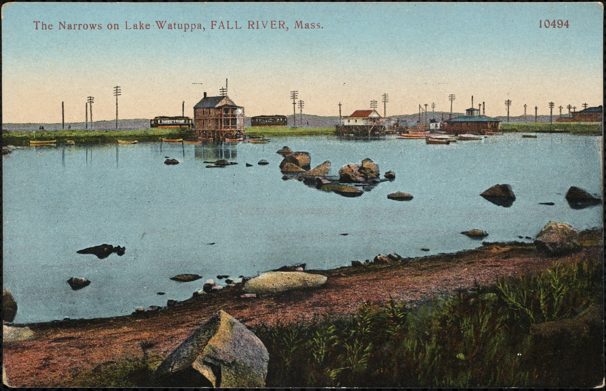 The narrows on Lake Watuppa, Fall River, Mass.
