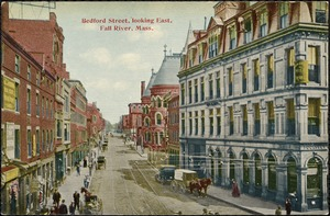 Bedford St., looking east, Fall River, Mass.