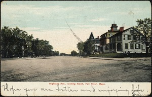 Highland Ave. looking north, Fall River, Mass.