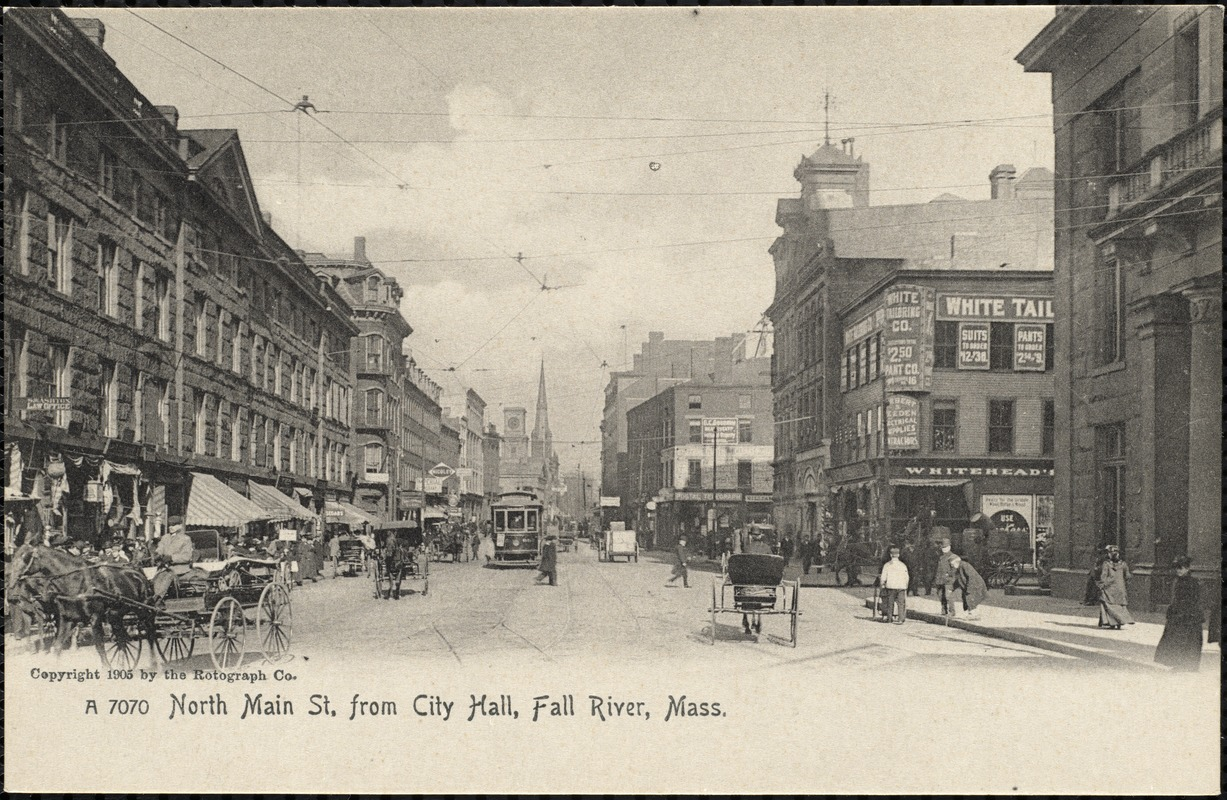 North Main St. from City Hall, Fall River, Mass.