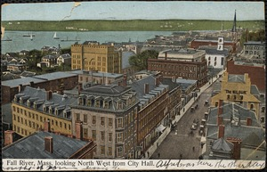 Fall River, Mass. looking north west from City Hall