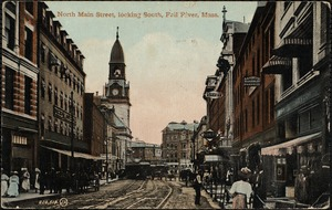 North Main Street, looking south, Fall River, Mass.