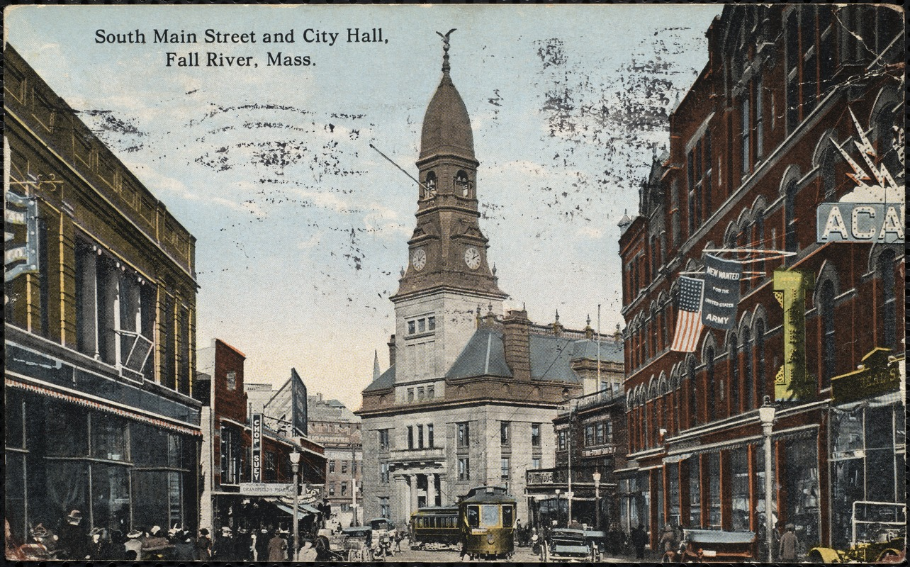 South Main Street and City Hall, Fall River, Mass.