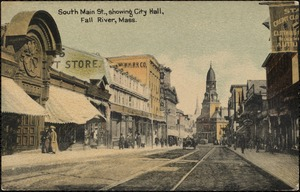 South Main St., showing City Hall, Fall River, Mass.