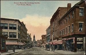 South Main St. looking north, Fall River, Mass.