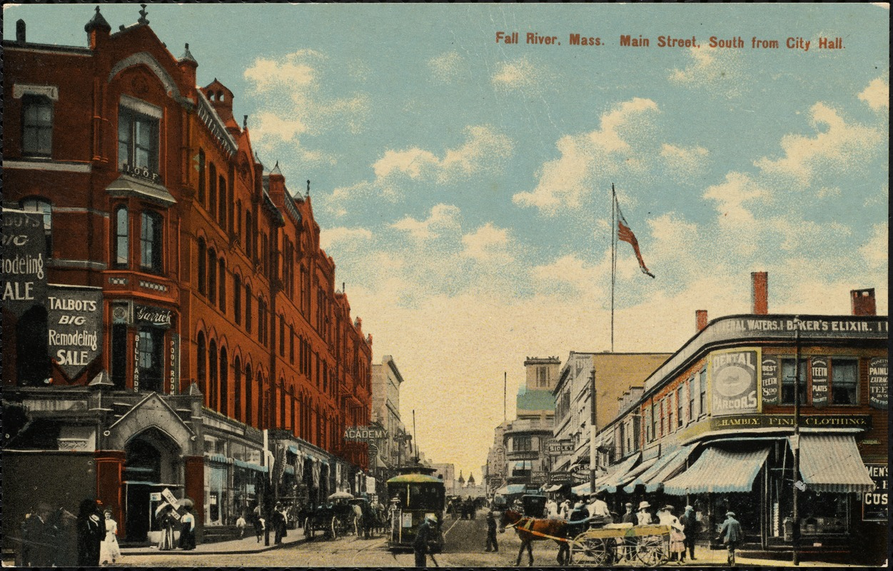 Fall River, Mass. Main Street, south from City Hall