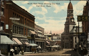 South Main Street showing City Hall, Fall River, Mass.