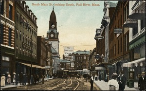 North Main St looking south, Fall River, Mass.