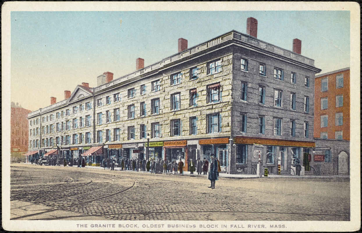 The granite block, oldest business block in Fall River, Mass.