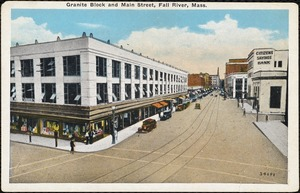 Granite block and Main Street, Fall River, Mass.
