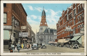 Main Street and City Hall, Fall River, Mass.
