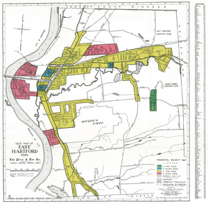 Residential security map of East Hartford, Conn.
