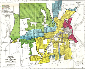 Residential security map of Hartford and West Hartford, Conn.