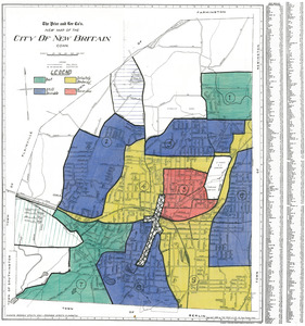 Residential security map of New Britain, Conn.