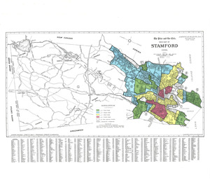 Residential security map of Stamford, Conn.
